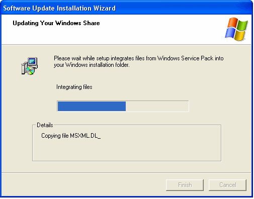 Updating Windows Share